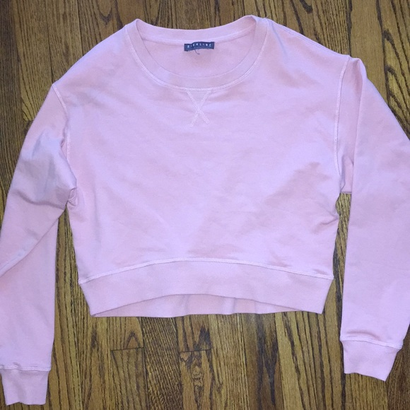 16523241 Highline Collective Tops | Cropped Pink Sweatshirt 80s Style | Poshmark